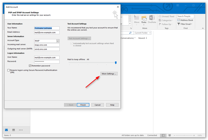 Configuring Outlook 2016 For Your IMAP Server